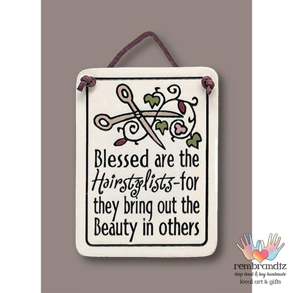 Hairstylist Art Tile - Rembrandtz