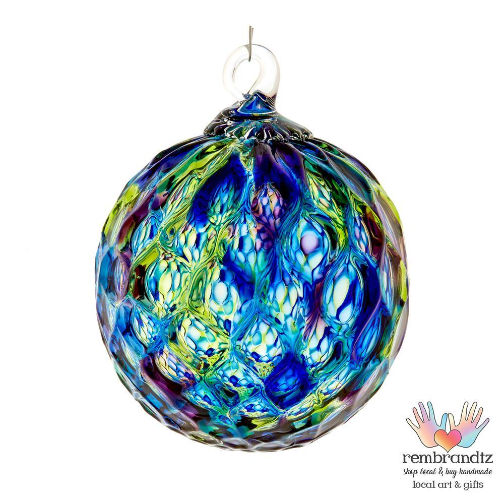 Blue Diamond Faceted Ornament - Rembrandtz