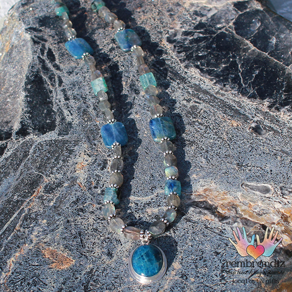 Apatite Labradorite Necklace