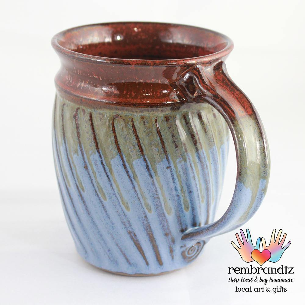 Handmade Coffee Mug Fluted