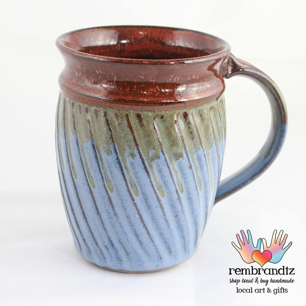 Handmade Coffee Mug Fluted - Rembrandtz