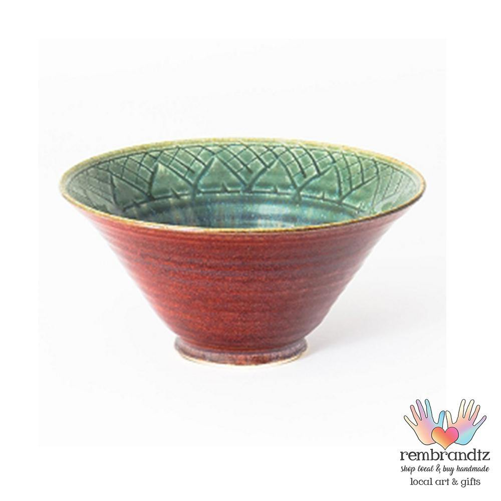 Lotus Ceramic Bowl Medium Green - Rembrandtz