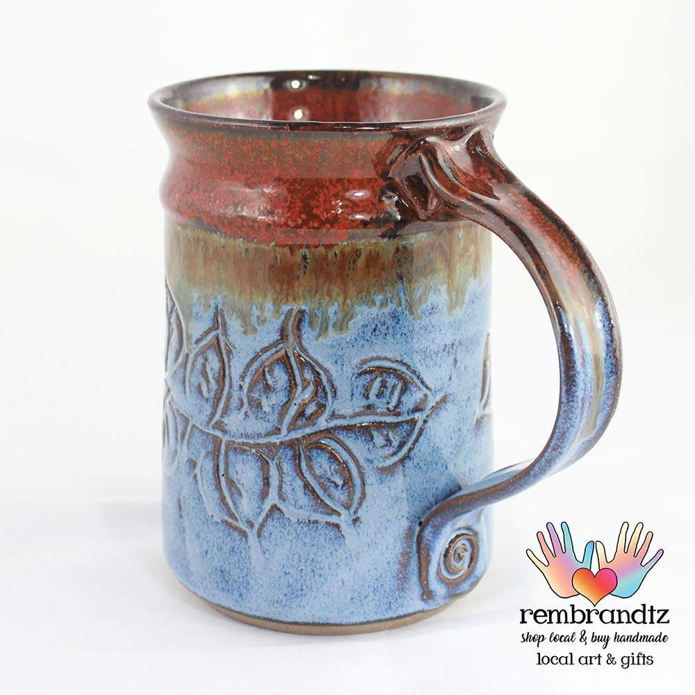 Handmade Coffee Mug Leaves - Rembrandtz