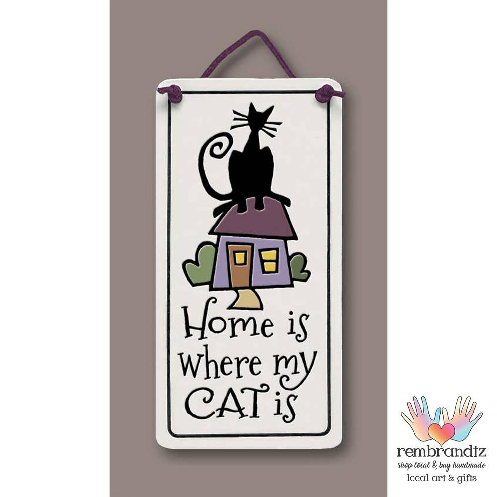 Home Cat Art Tile - Rembrandtz