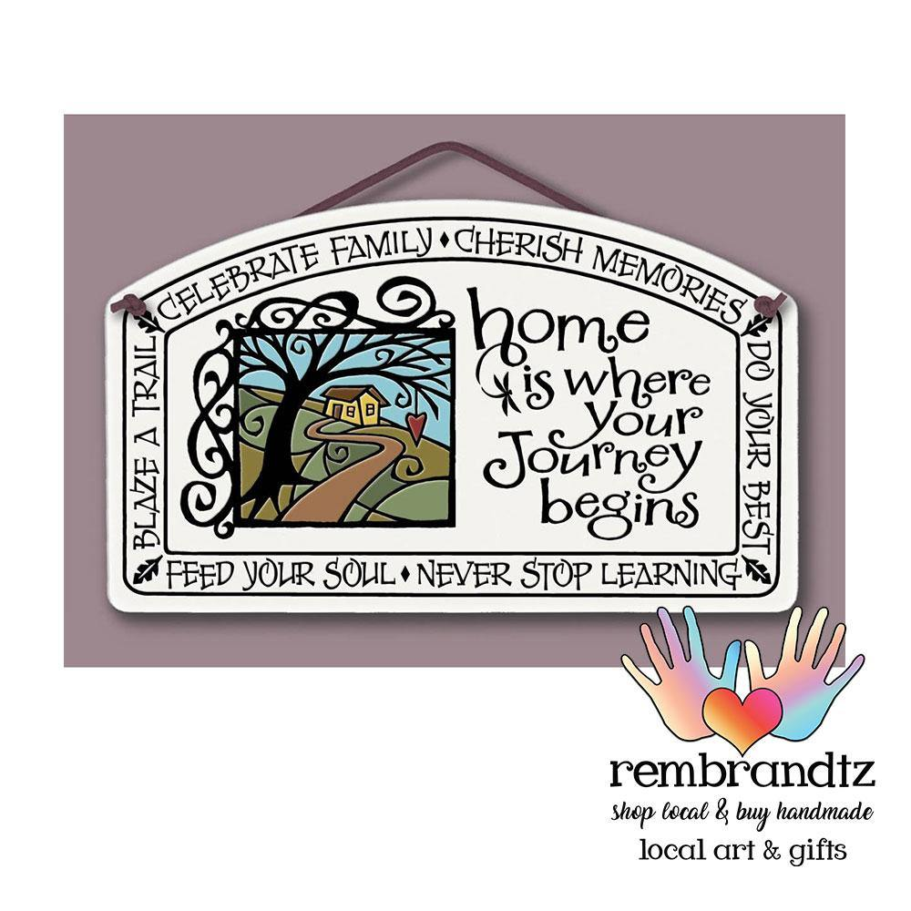 Home is Where Your Journey Begins Art Tile - Rembrandtz