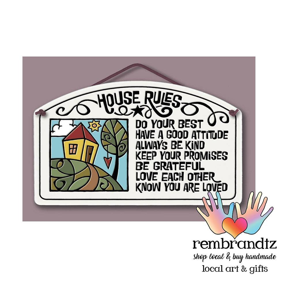 House Rules Art Tile - Rembrandtz