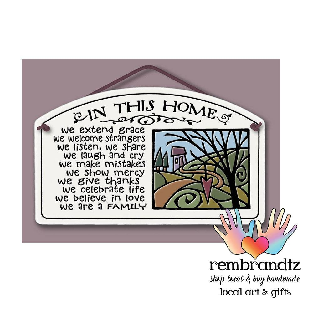 In This Home We Extend Grace Art Tile - Rembrandtz
