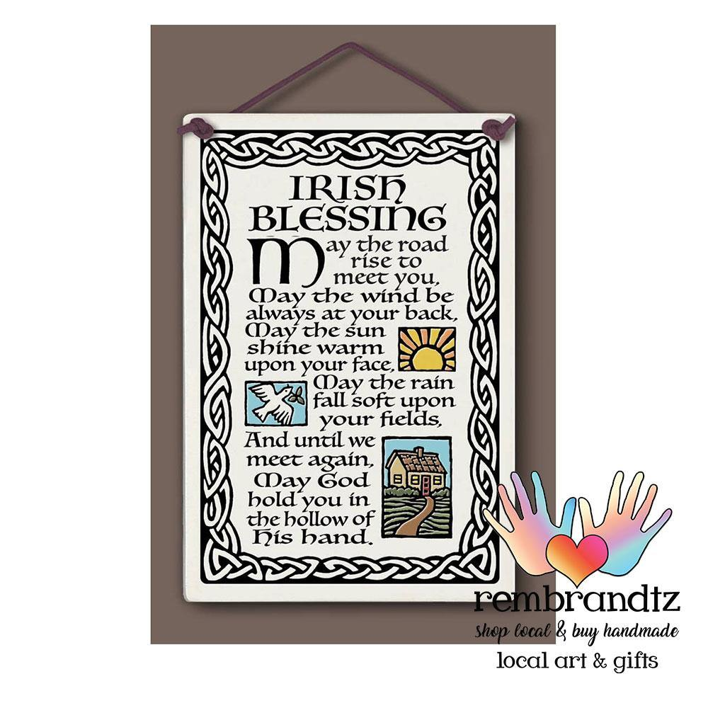 Irish Blessing Art Tile - Rembrandtz