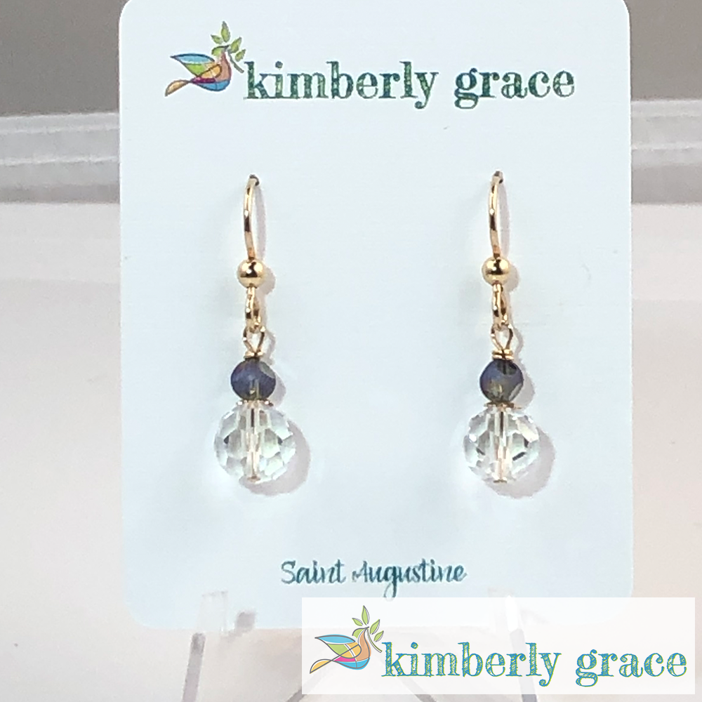 Earrings Gold Filled Crystal Kimberly Grace