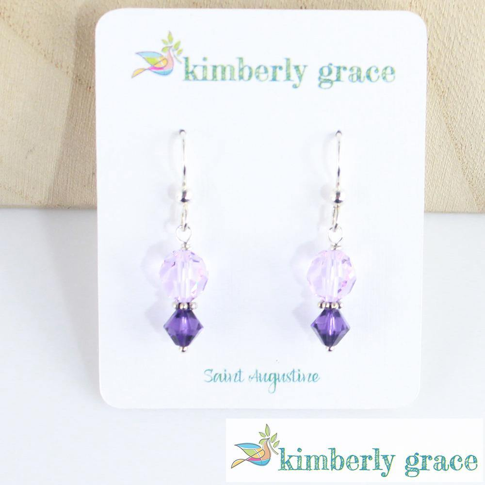 Earrings Lavender and Purple