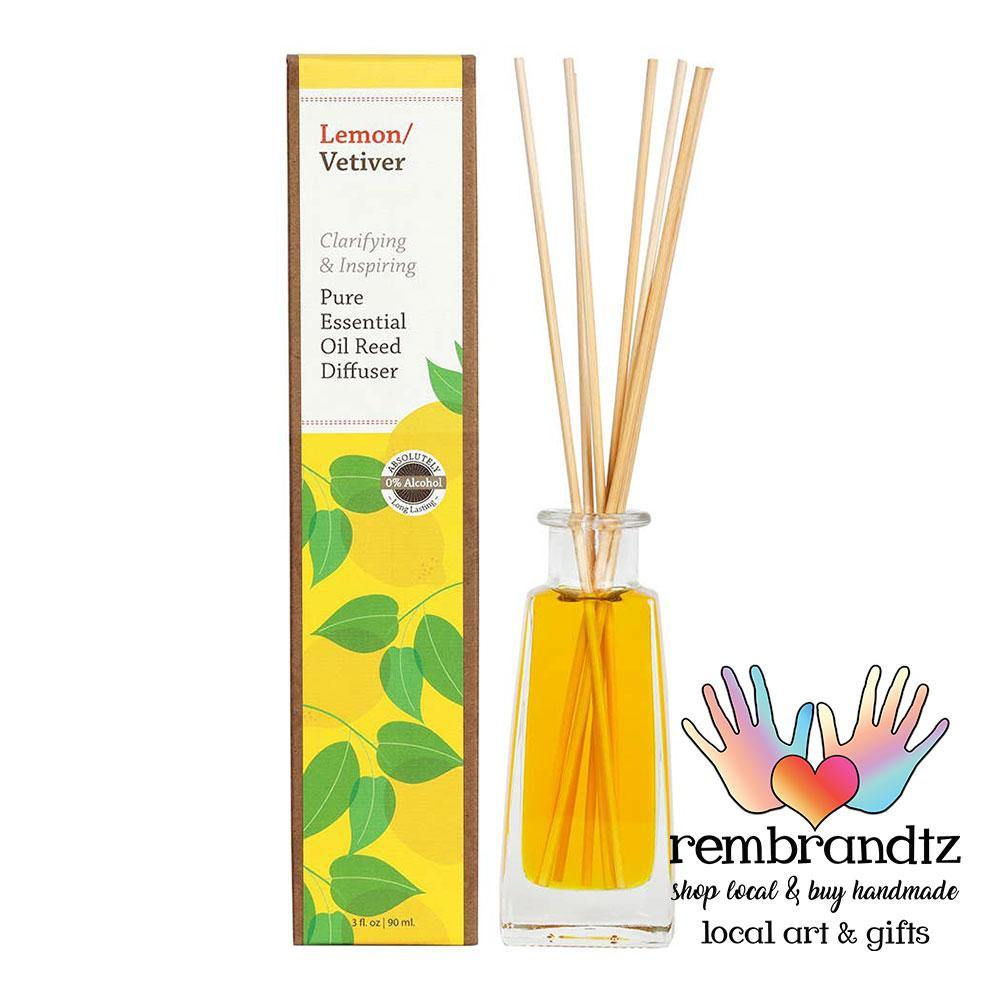 Lemon Vetiver Essential Oil Reed Diffuser Large - Rembrandtz