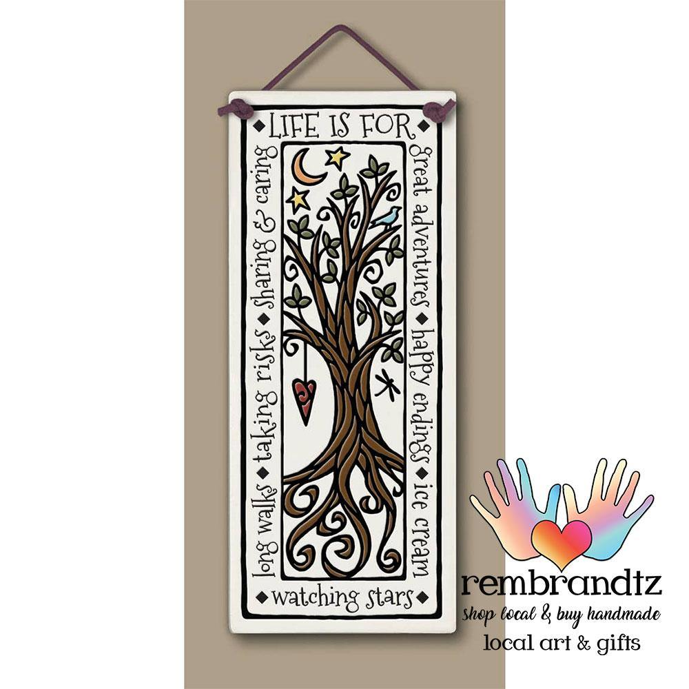 Life Is For Great Adventures Art Tile - Rembrandtz