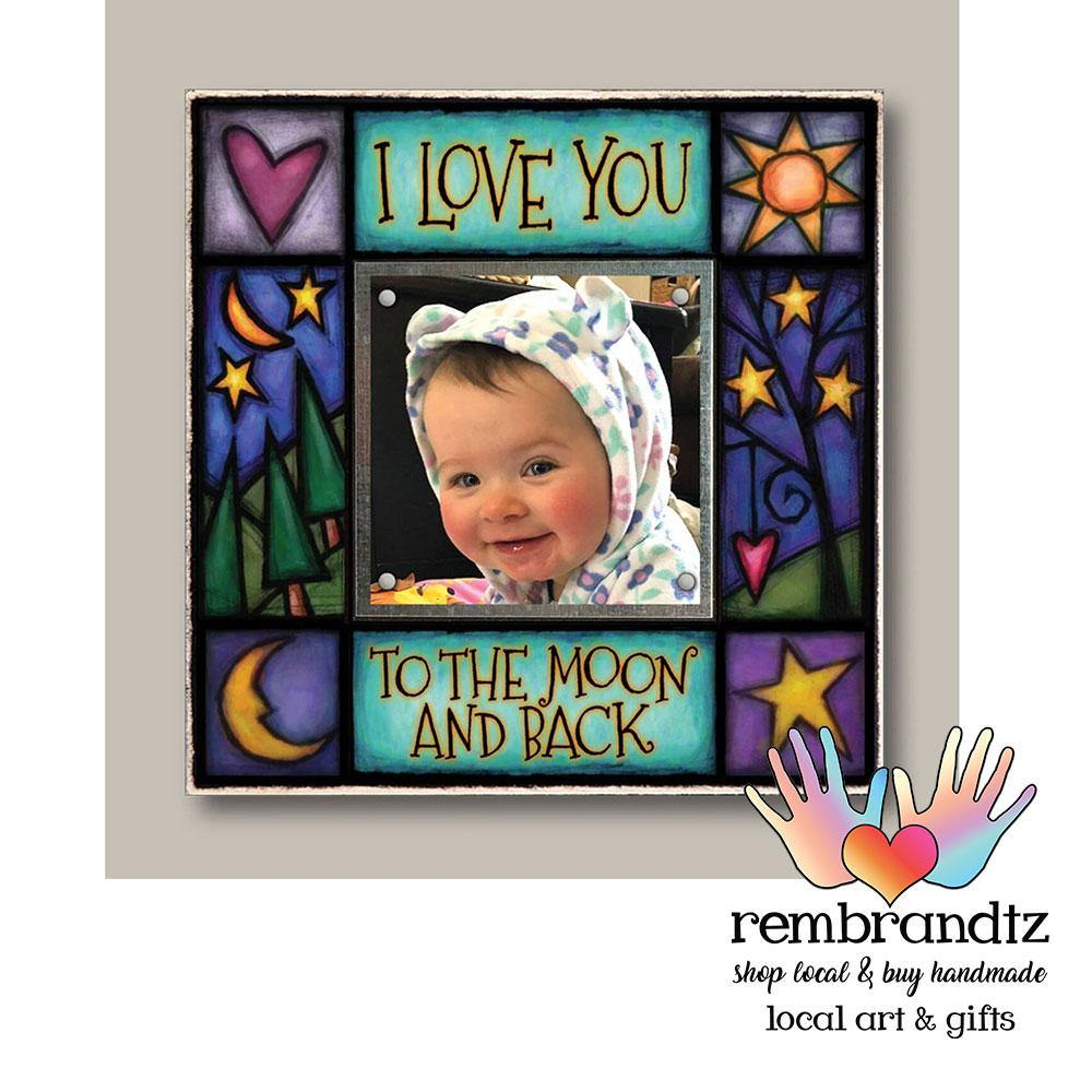 Love You to the Moon Small Archival Picture Frame - Rembrandtz