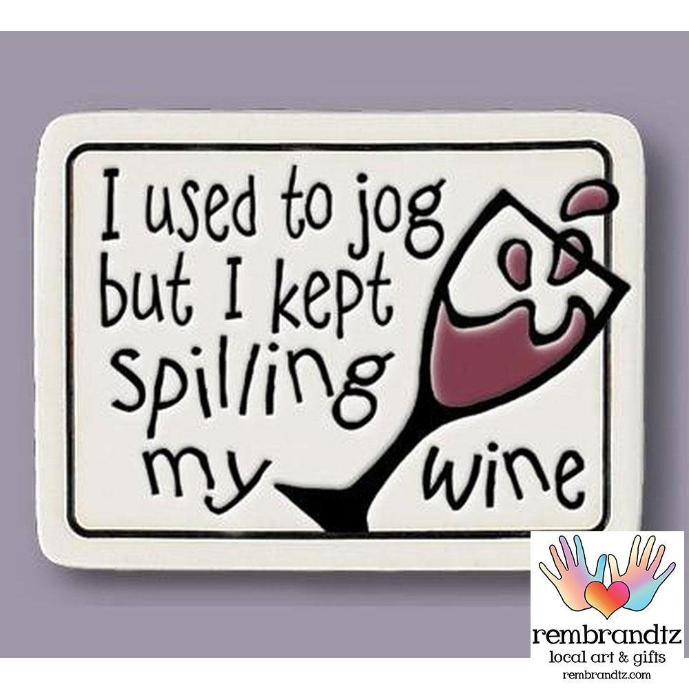 Spilling Wine Art Tile Magnet