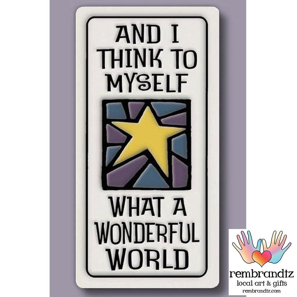 Wonderful World Art Tile Magnet