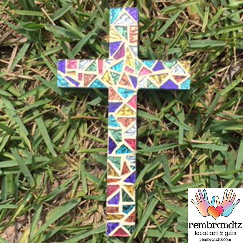 Mosaic Cross Handmade