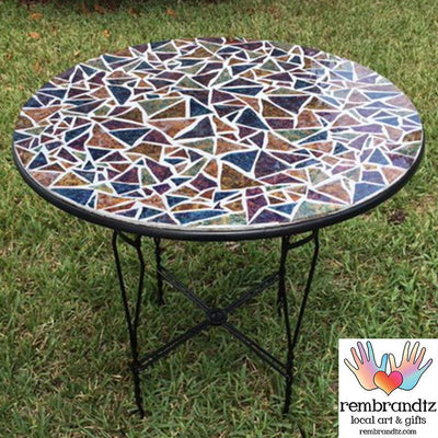 Mosaic Multi Color Ice Cream Table Handmade