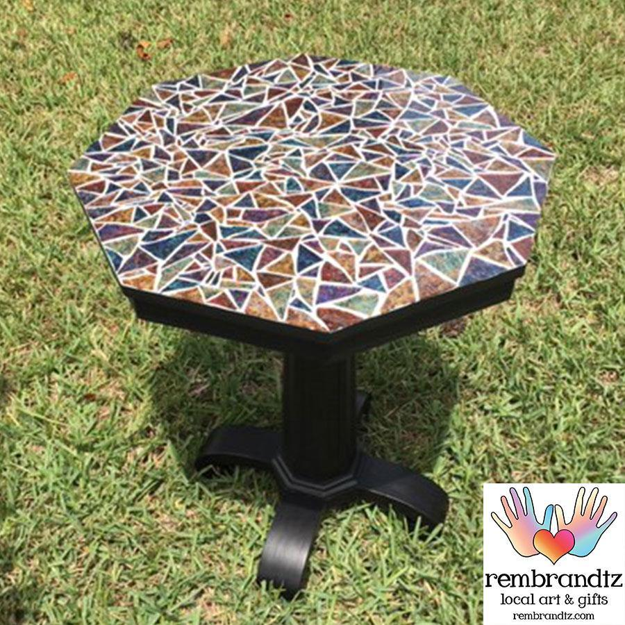 Mosaic Multi Color Side Table Handmade