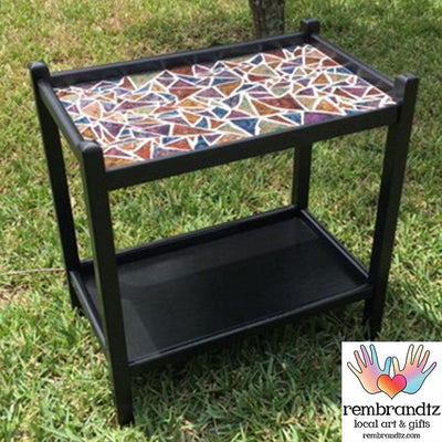 Mosaic Multi Color Serving Table
