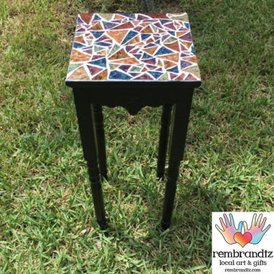 Mosaic Multi Color Plant Stand Table