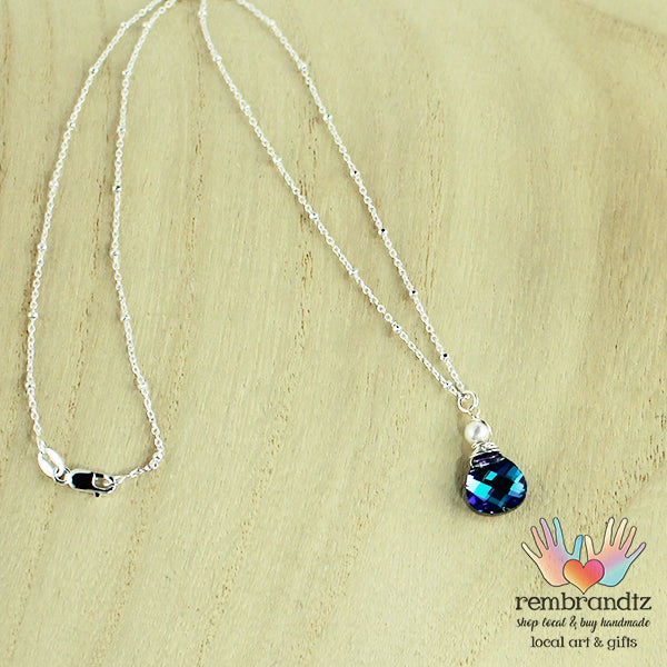 Necklace Rainbow Cobalt Sterling