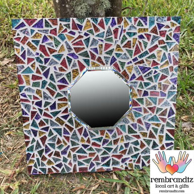 Mosaic Multi Color Mirror Handmade