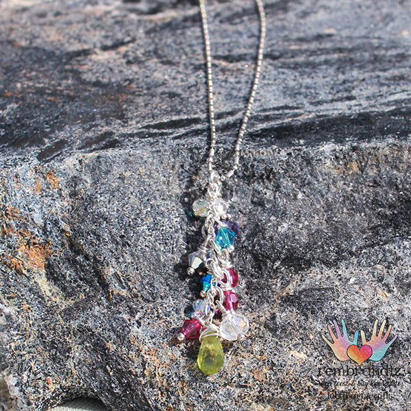 Peridot & Sterling Colorful Necklace