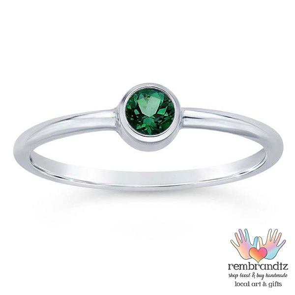 Ring Rainforest Topaz Sterling