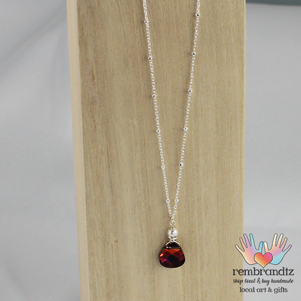 Necklace Ruby Rainbow Sterling