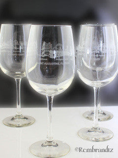 Saint Augustine Wine Glass
