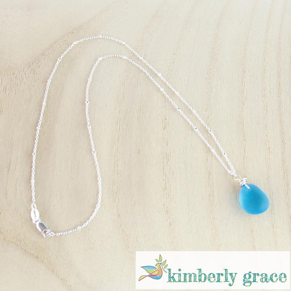 Necklace Aqua Blue II Sea Glass - Rembrandtz