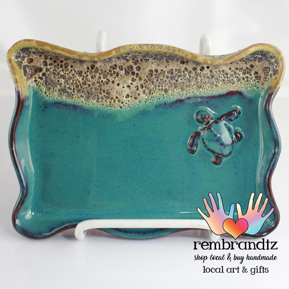 Turtle in the Surf Pottery Wavy Tray