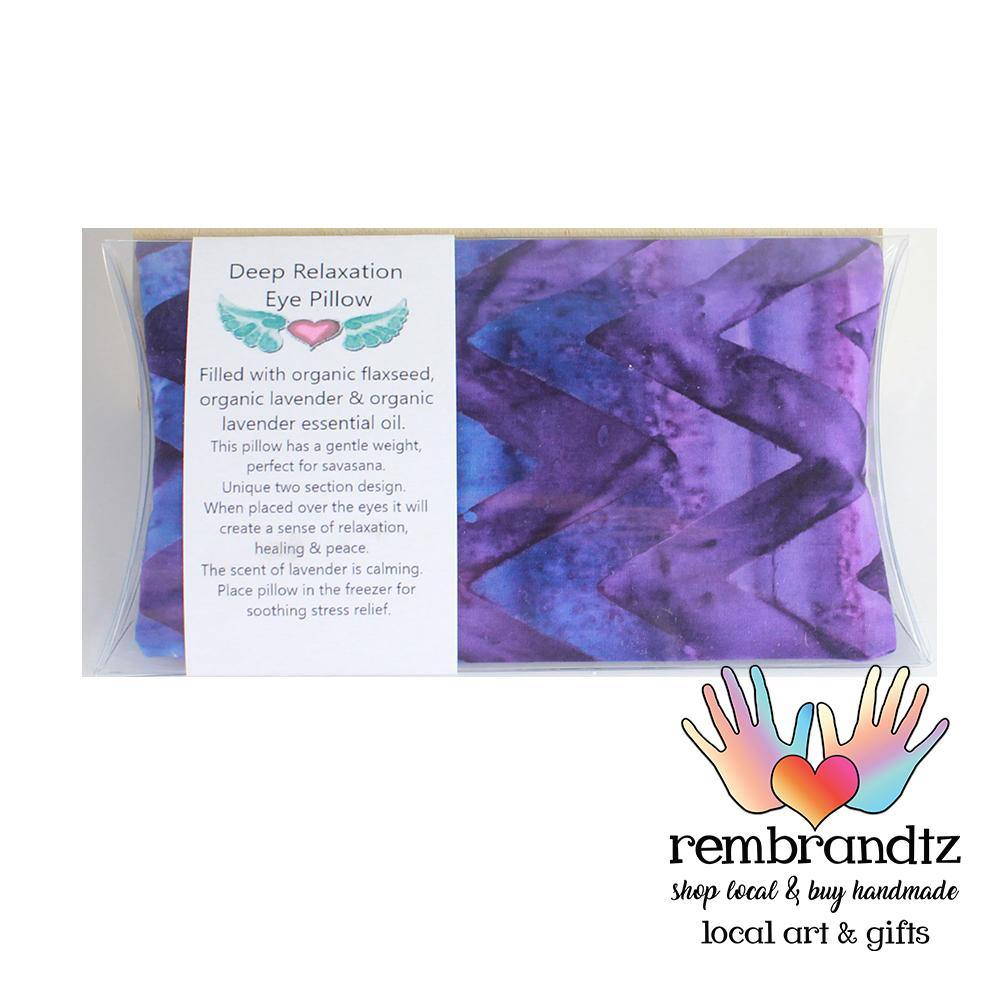 Lavender Filled Small Batik Eye Pillow - Rembrandtz