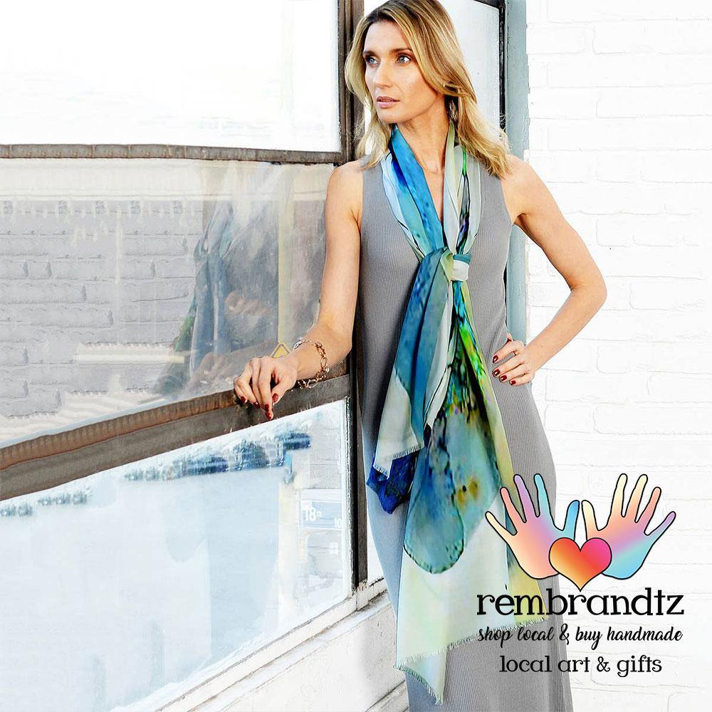 Stained Glass Scarf Blue - Rembrandtz