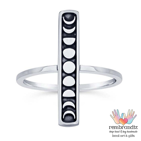 Ring Moon Phases Sterling