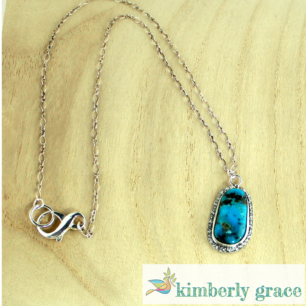 Necklace Sterling Turquoise