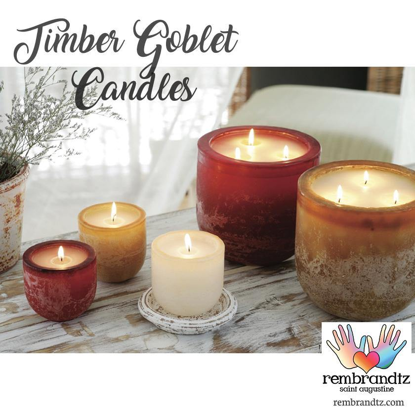 Timber Goblet Candles