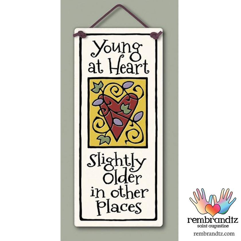 Young at Heart Art Tile