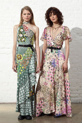 Pattern clash dresses