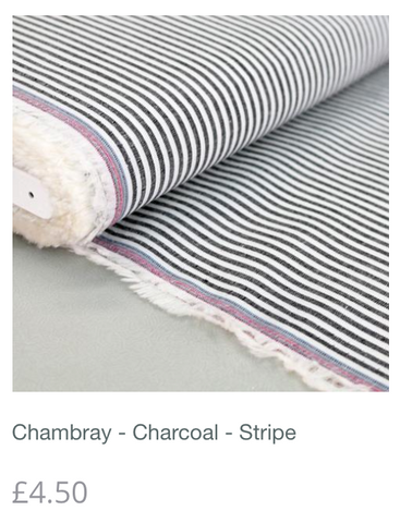 Chambray - Charcoal - Stripe
