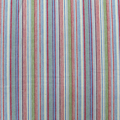 Red and Blue striped denim fabric