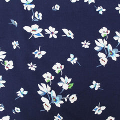 Navy floral fabric