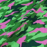 FG Furnishing pink and green camouflage fabric