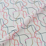 Pink patterned face mask fabric