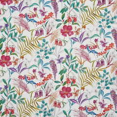Pink floral home furnishing fabric