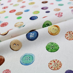 Fabrics Galore Sewing Hobby Buttons Fabric