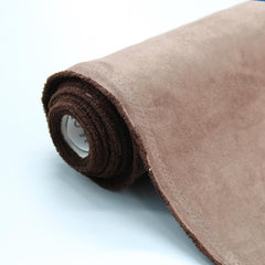 Brown suedette fabric