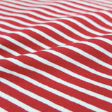 Fabrics Galore striped jersey red and white
