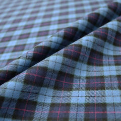Brushed cotton tartan fabric