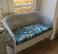Upcycled wicker seat Marcel furnishing fabric